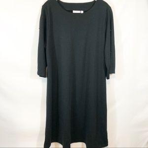 Susan Graver Black Ponte Knit Dress size 1X